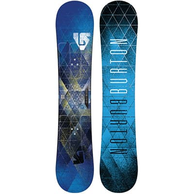 Silver adult snowboard
